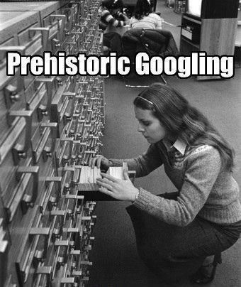 prehistoric googling, index, library