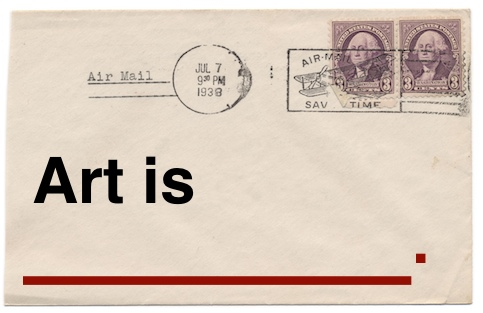 art is, art, postcard